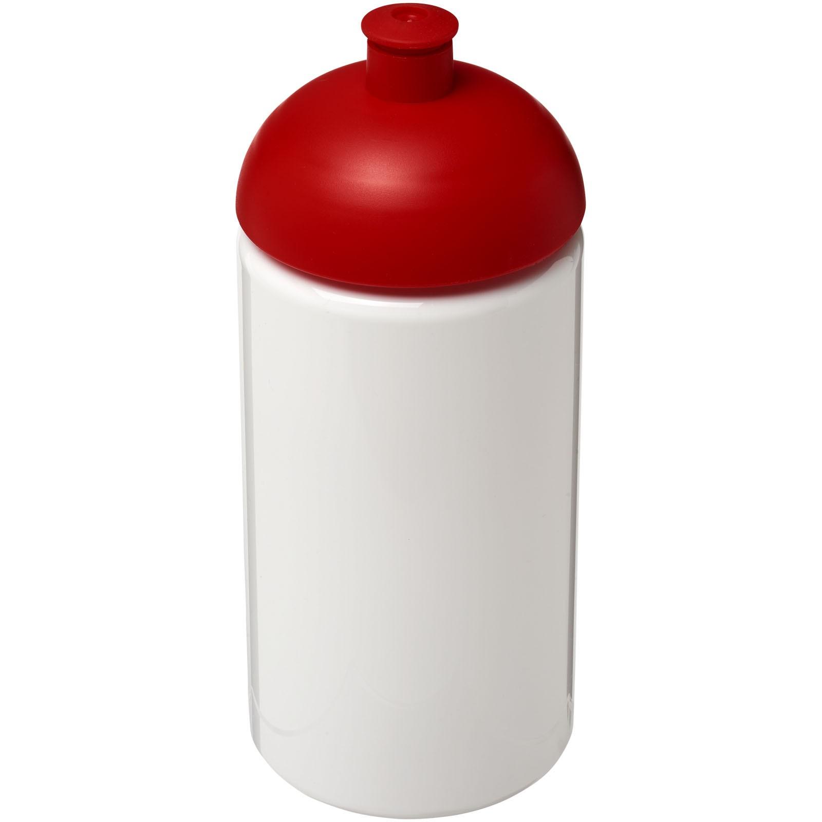 Láhev s kupolovitým víčkem H2O Bop® 500 ml - Bílá / Červená s efektem námrazy
