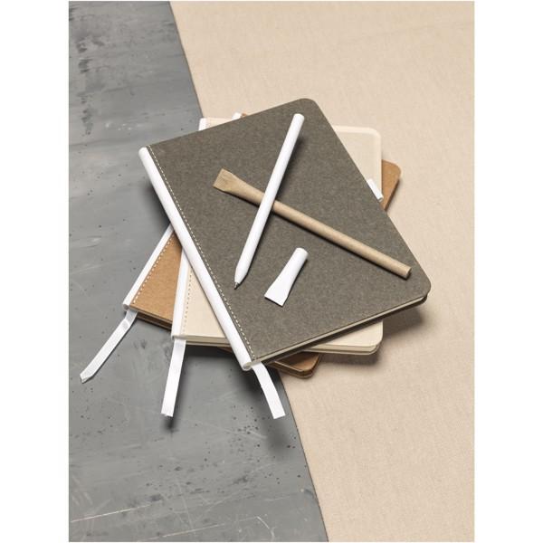 Kuličkové pero Asilah z recyklovaného papíru - Bílá