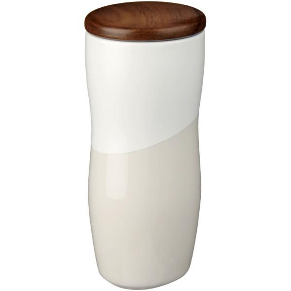 Keramická hrnek Reno 370 ml s dvojitou stěnou - Bílá