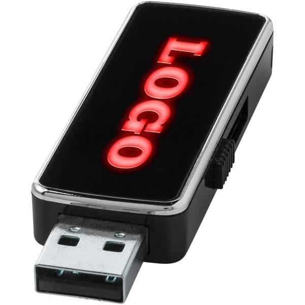 Podsvícené USB Light Up - Černá Sytá / Red / 4 GB