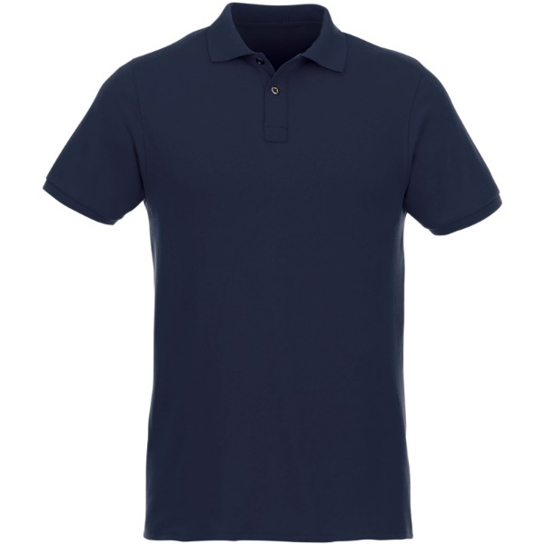 Beryl short sleeve men's GOTS organic GRS recycled polo - Navy / S