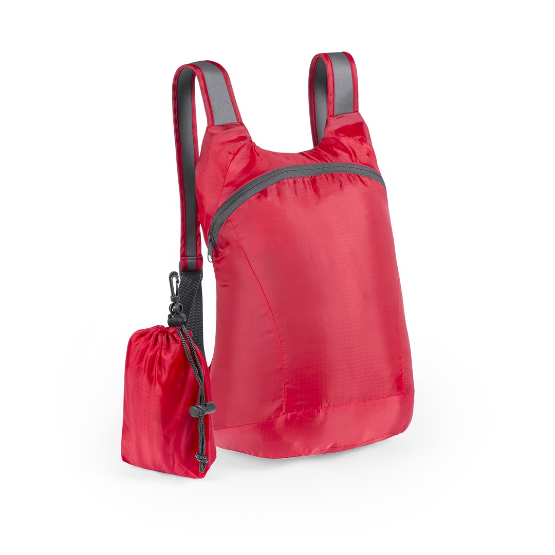 Mochila Plegable Ledor - Rojo
