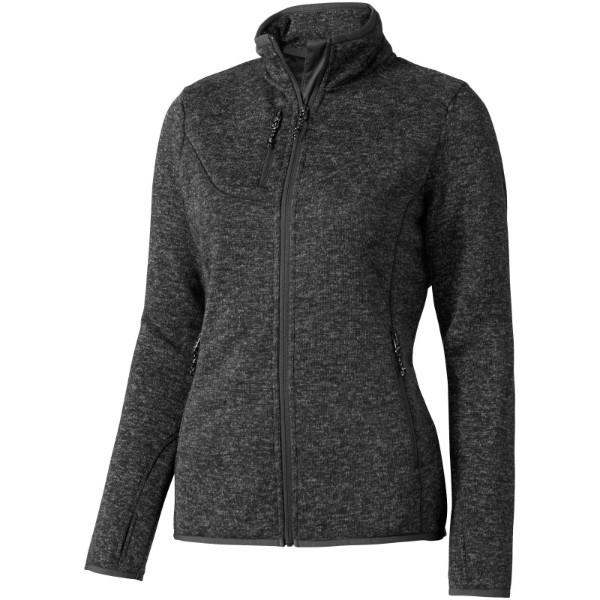 Tremblant ladies knit jacket - Heather Smoke / XL