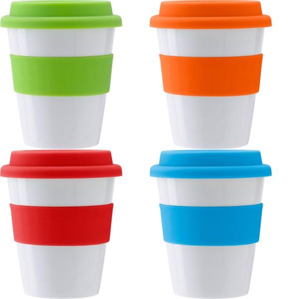 PP plastic drinking mug - Orange