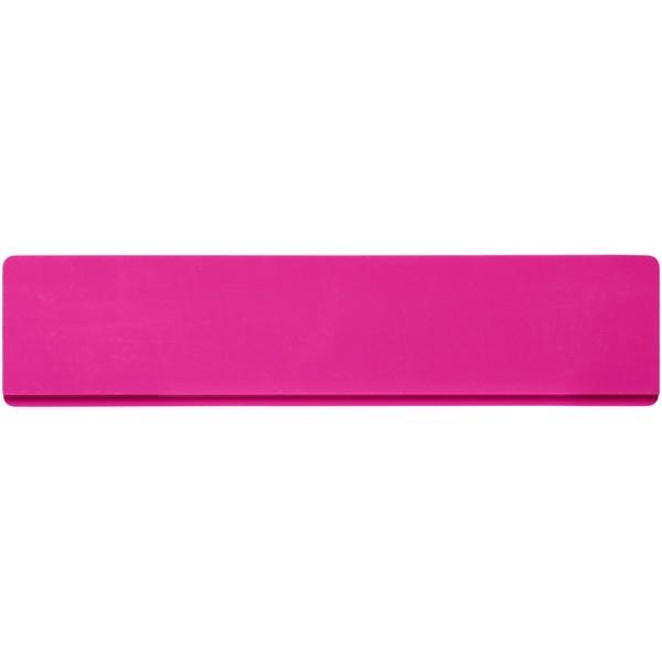 Renzo 15 cm plastic ruler - Magenta