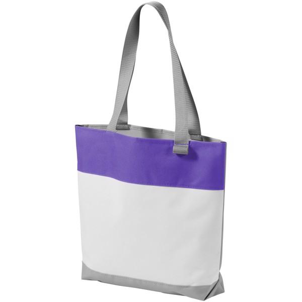 Bloomington colour-block convention tote bag - White / Purple