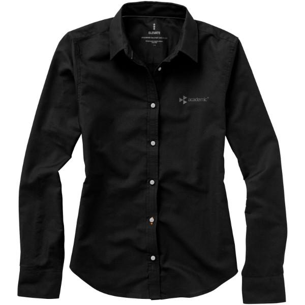Vaillant long sleeve women's oxford shirt - Solid black / L