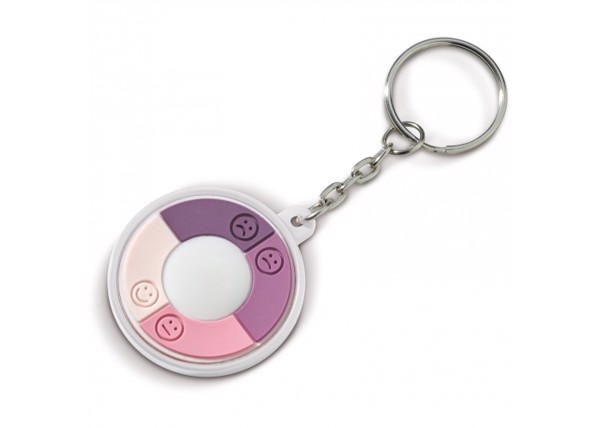 UV-checker keychain - White
