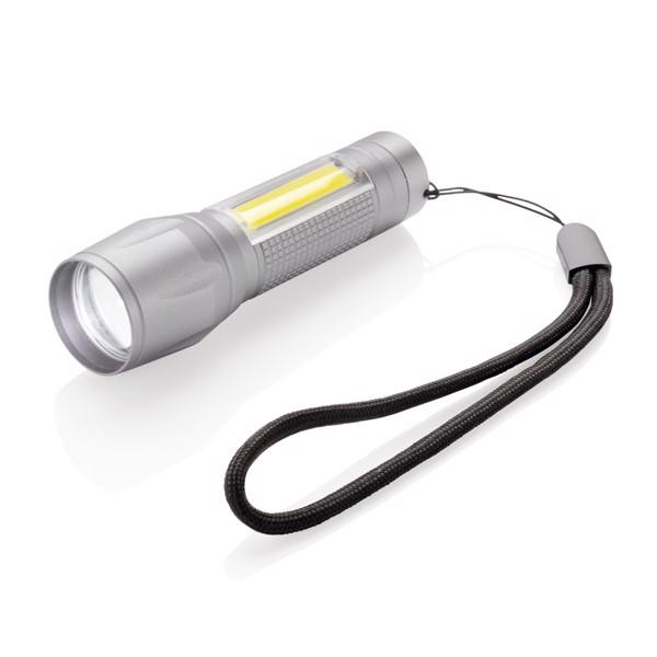 3W LED svítilna s COB světlem - Šedá