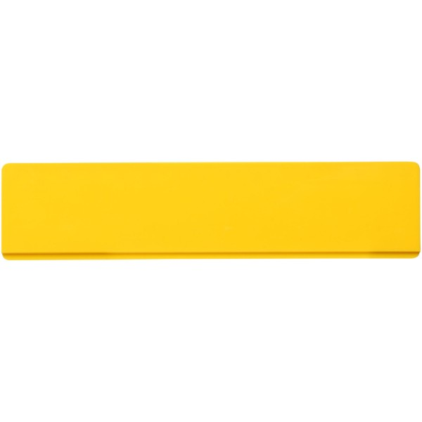 Renzo 15 cm plastic ruler - Yellow