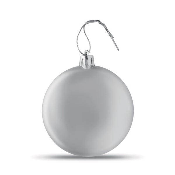 Flat Christmas bauble Lia Ball - Silver