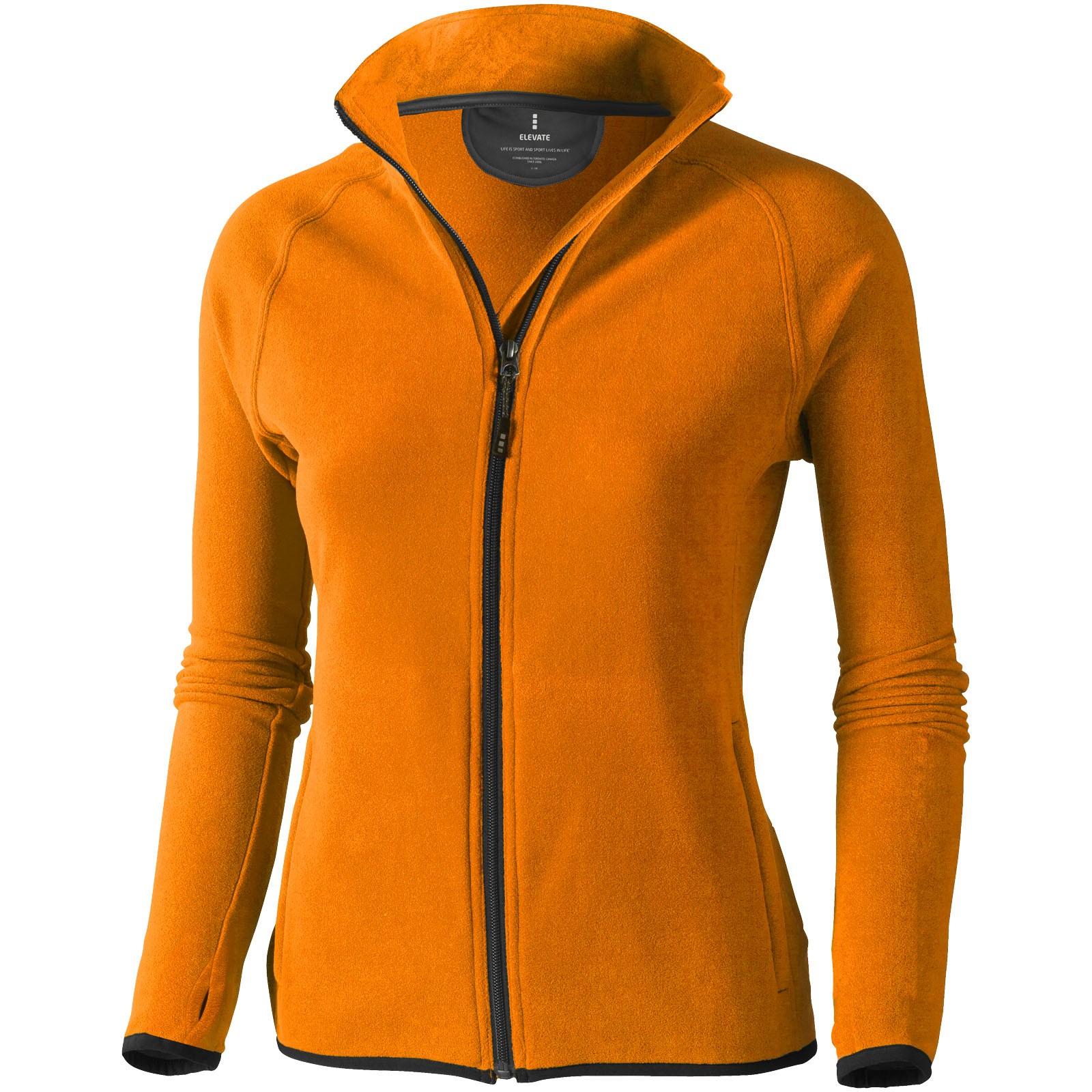 Brossard micro fleece full zip ladies jacket - Orange / XXL