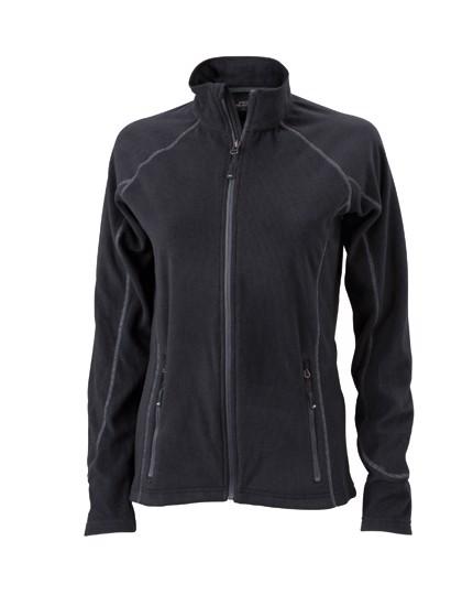 Ladies` Structure Fleece Jacket - Black / Carbon / L