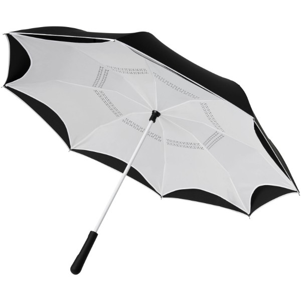 "Yoon 23"" inversion colourized straight umbrella - White / Solid black"