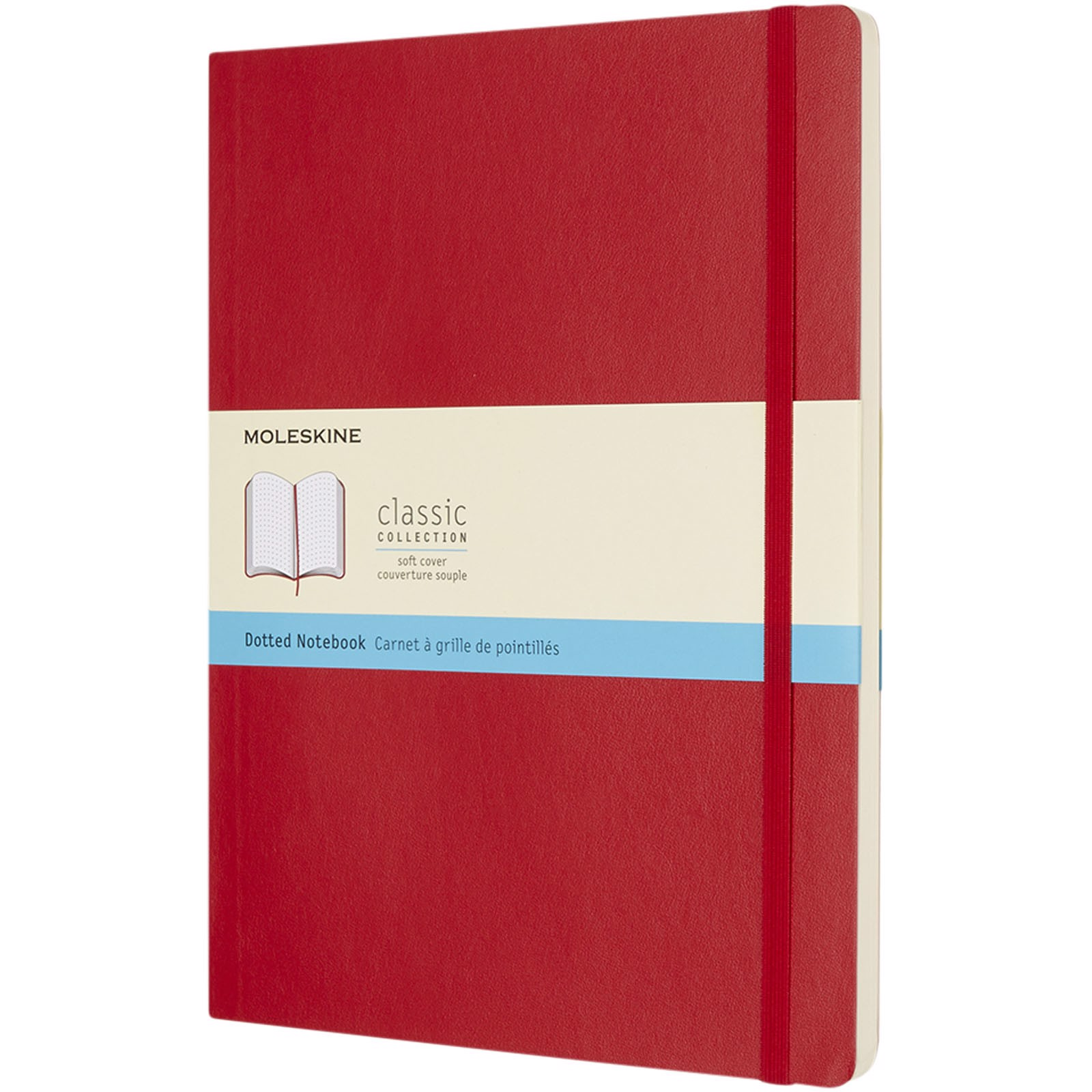 Classic XL soft cover notebook - dotted - Scarlet red