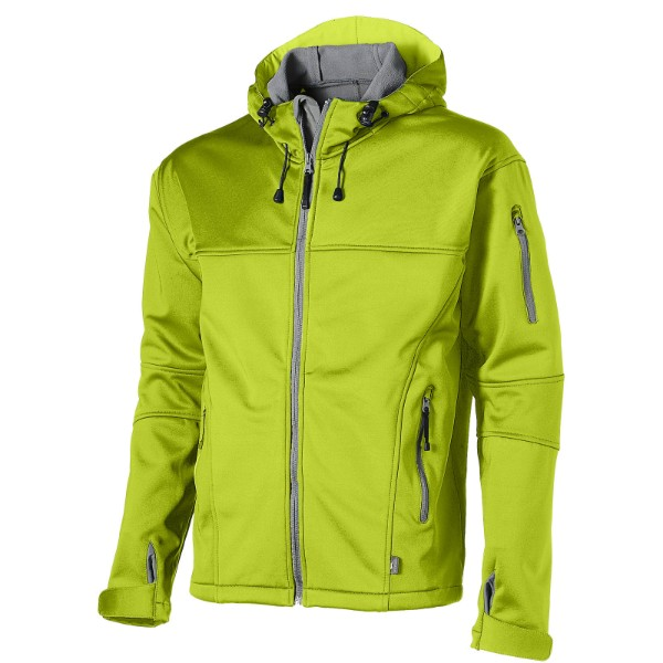 Match softshell jacket - Mid green / 3XL