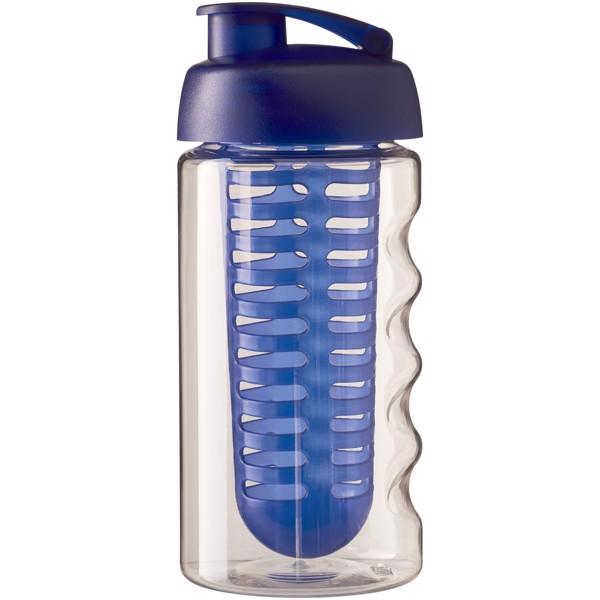 H2O Bop® 500 ml flip lid sport bottle & infuser - Transparent / Blue