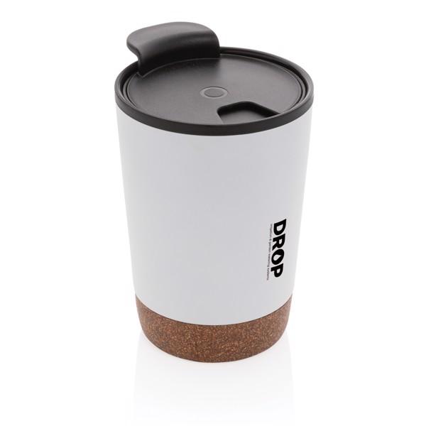 Cork coffee tumbler - White