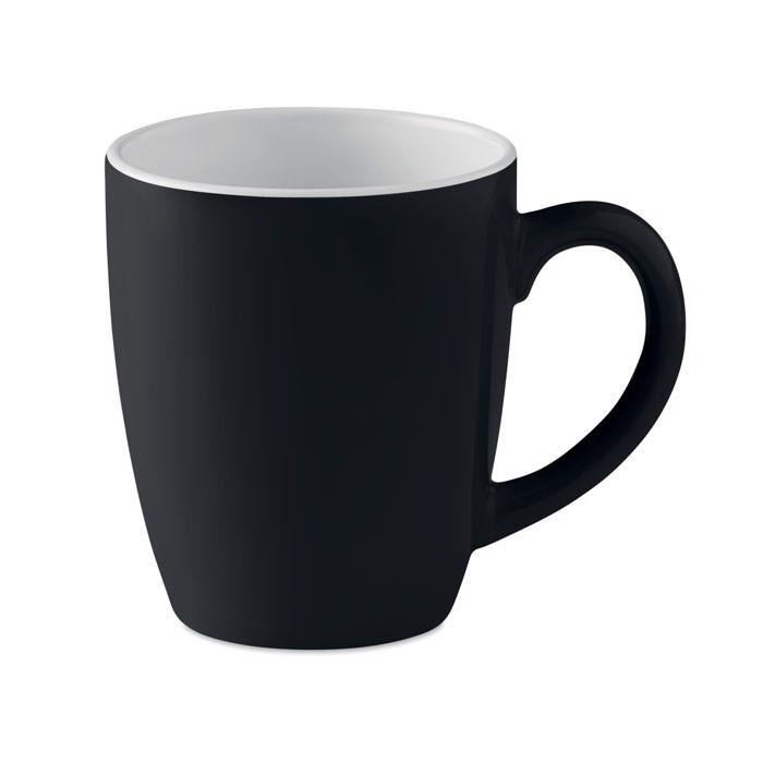 Kolorowy kubek ceramiczny Colour Trent - czarny