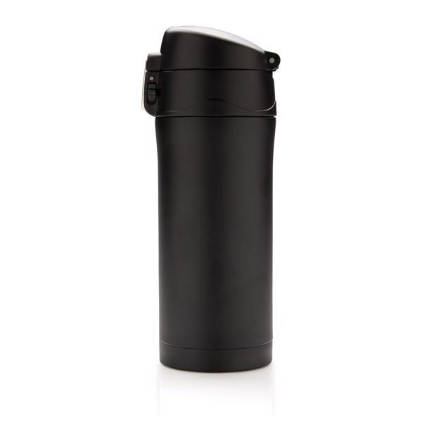 Könnyen zárható vákuum bögre - Fekete / Fekete