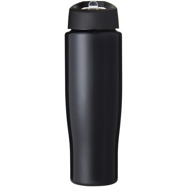 H2O Tempo® 700 ml spout lid sport bottle - Solid black