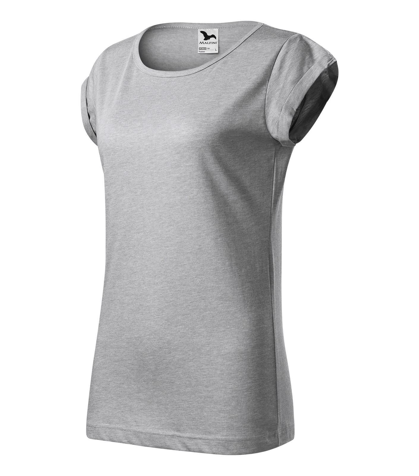 T-shirt Ladies Malfini Fusion - Silver Melange / L