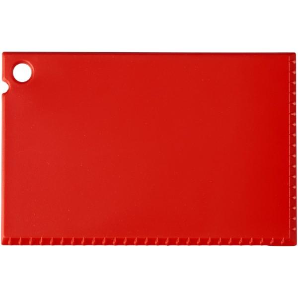 Škrabka na led Coro o velikosti platební karty - Červená s efektem námrazy