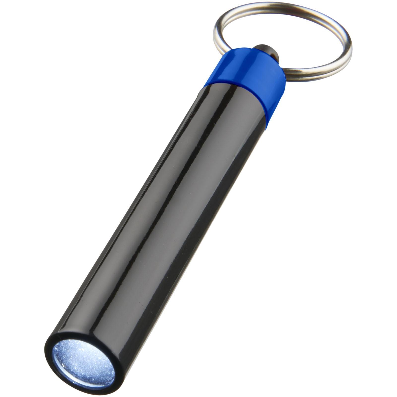 Kvalitní klíčenková svítilna Retro - Světle modrá / Černá