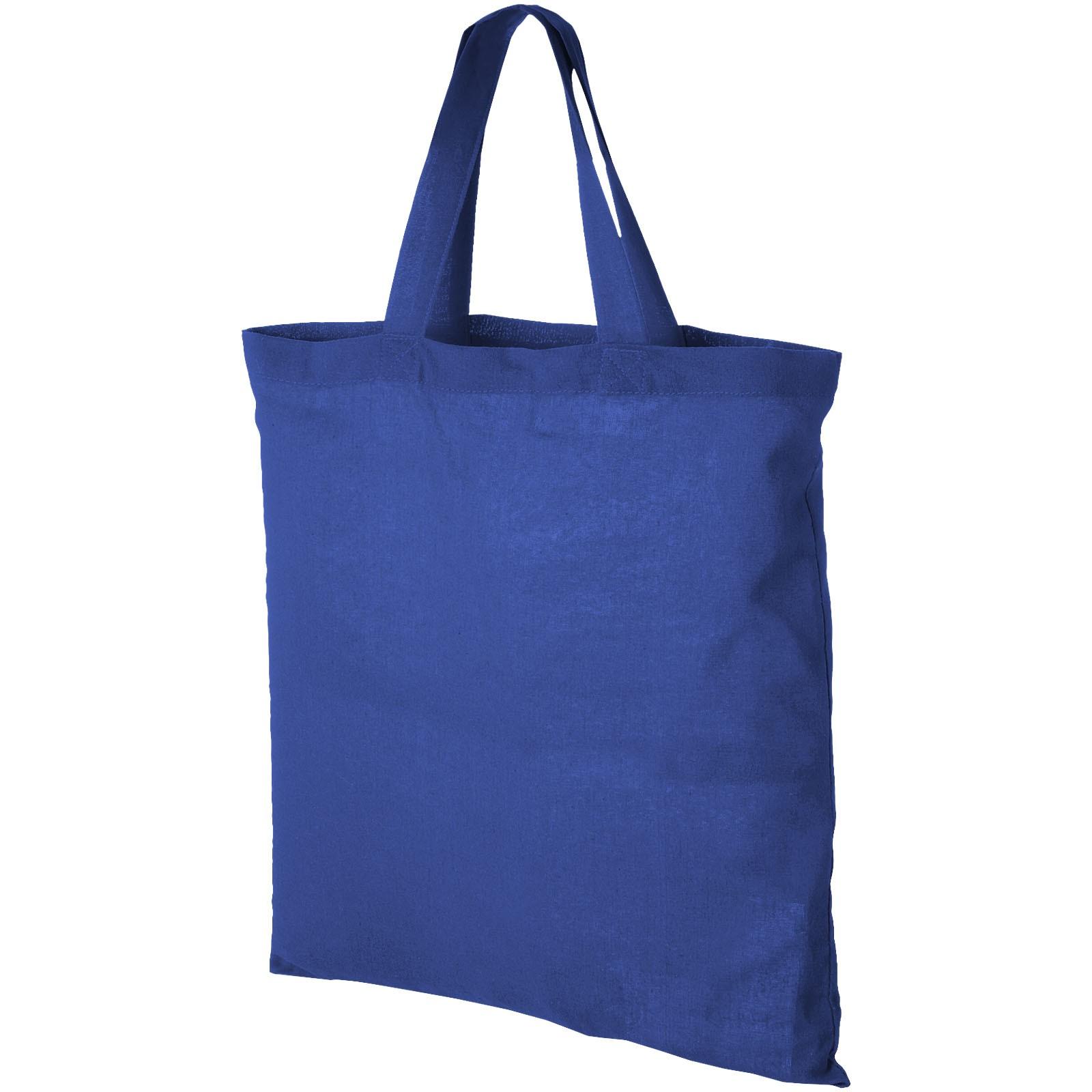 Virginia 100 g/m² cotton tote bag short handles - Royal blue