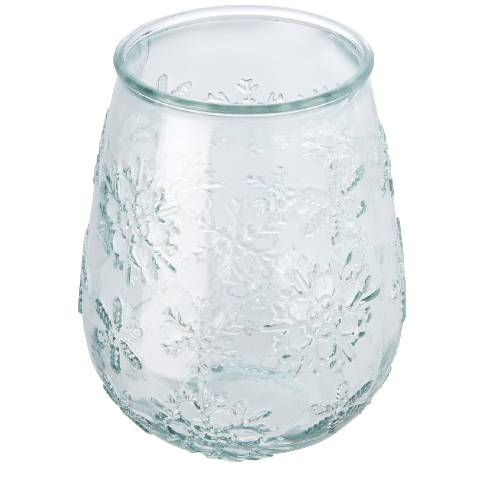 Faro recycled glass tealight holder - Transparent Clear