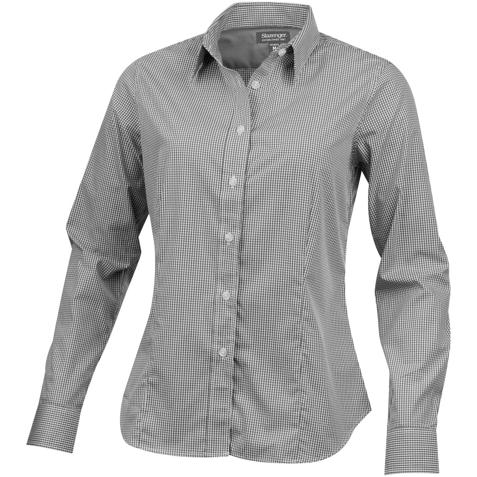 Net long sleeve ladies shirt - Grey / XS