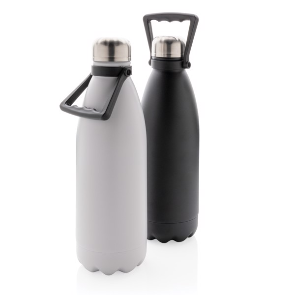 Large vacuum stainless steel bottle 1.5L - Off White