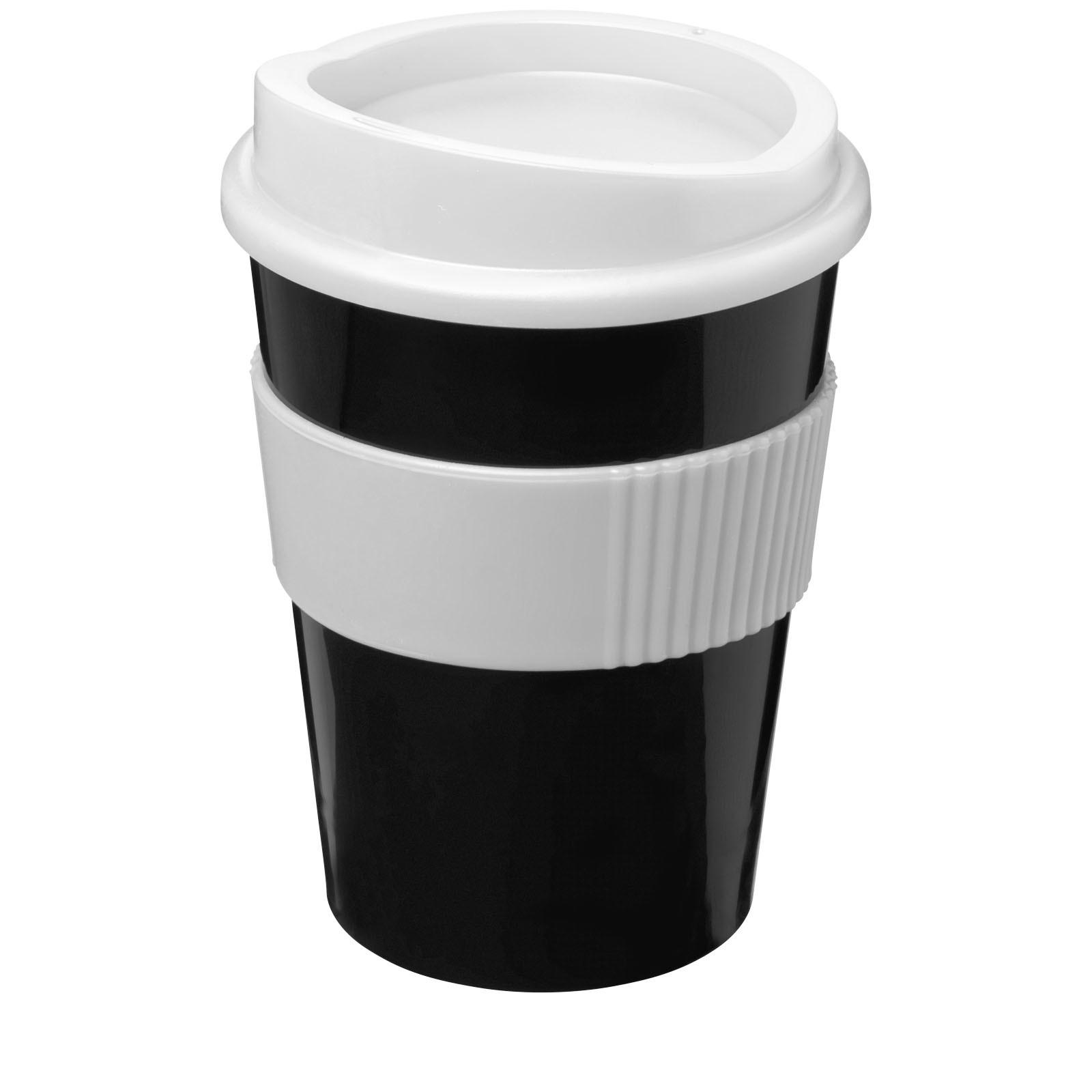 Hrnek s rukojetí Americano® medio 300 ml - Černá / Bílá