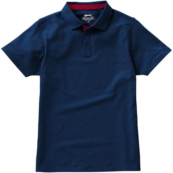 Hacker Poloshirt für Herren - Navy / Rot / M