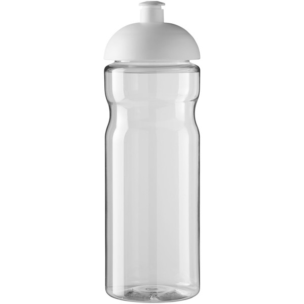 Sportovní láhev s kupolovitým víčkem H2O Base® 650 ml - Průhledná / Bílá
