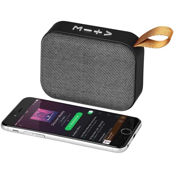 Fashion fabric Bluetooth® speaker - Grey