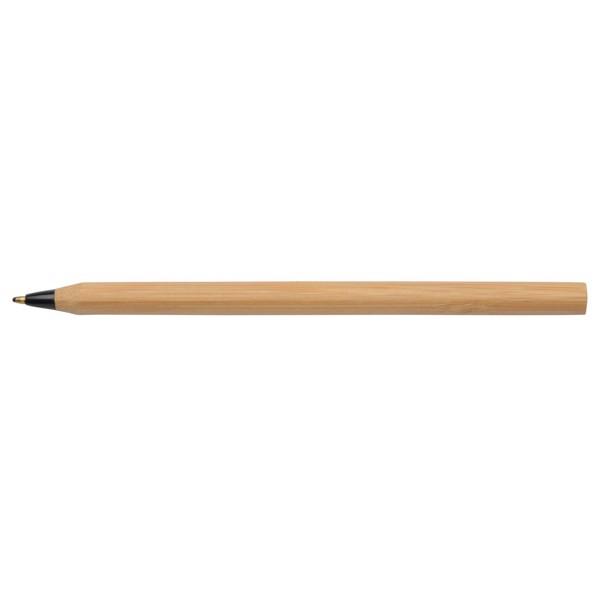 Bambusové Kuličkové Pero Essential / Černá / Hnědá