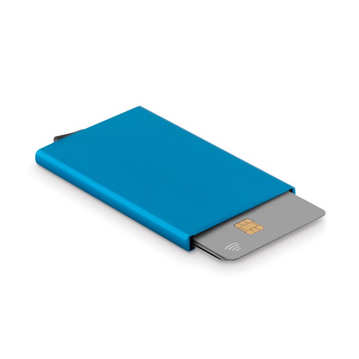 Aluminium RFID card holder Securpush - Blue