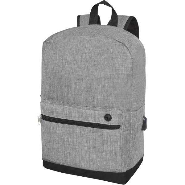 "Hoss 15.6"" business laptop backpack - Heather medium grey"