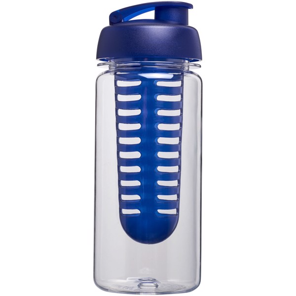 Láhev s infuzérem a vyklápěcím víčkem Octave Tritan™ 600 ml - Průhledná / Modrá