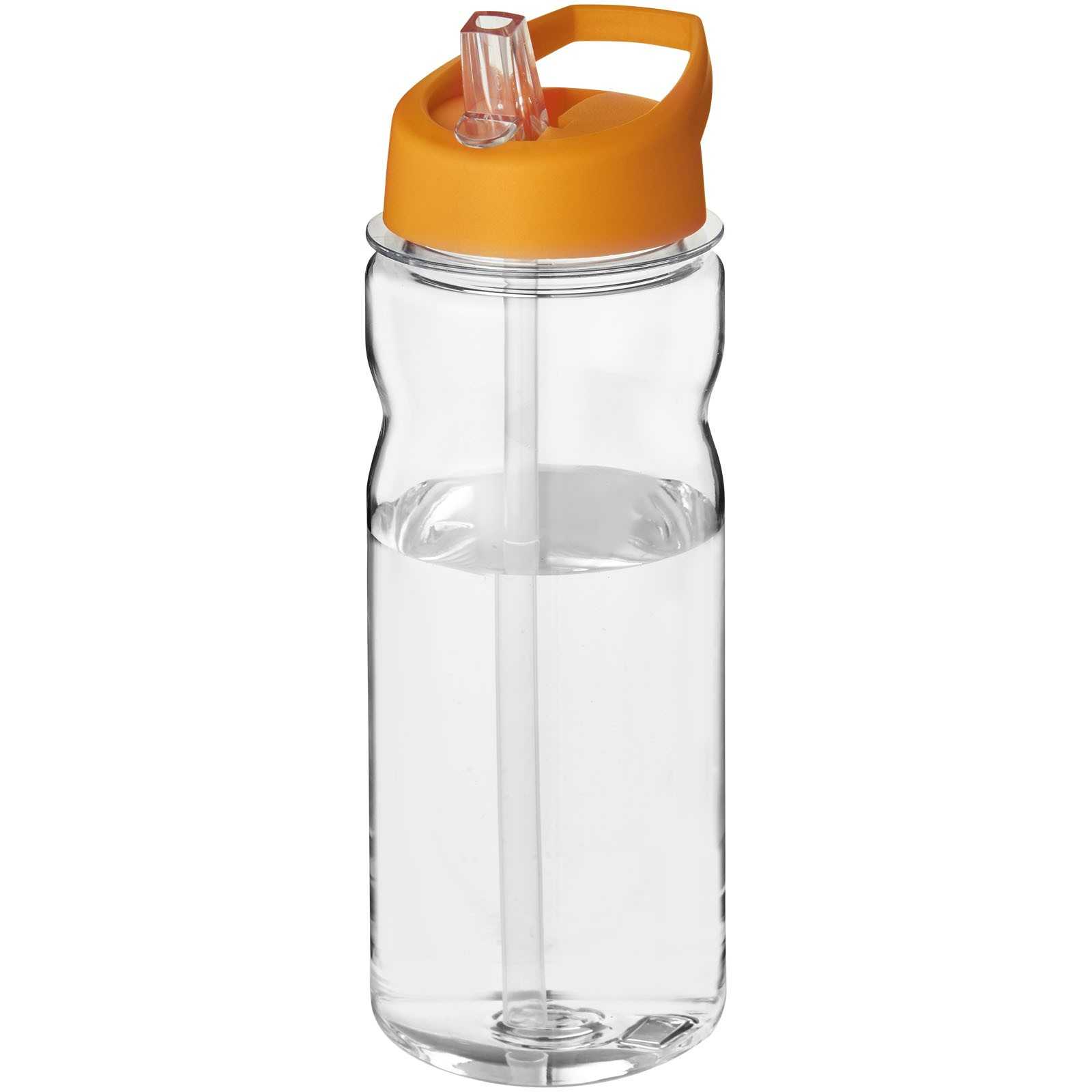 H2O Base Tritan™ 650 ml spout lid sport bottle - Transparent / Orange