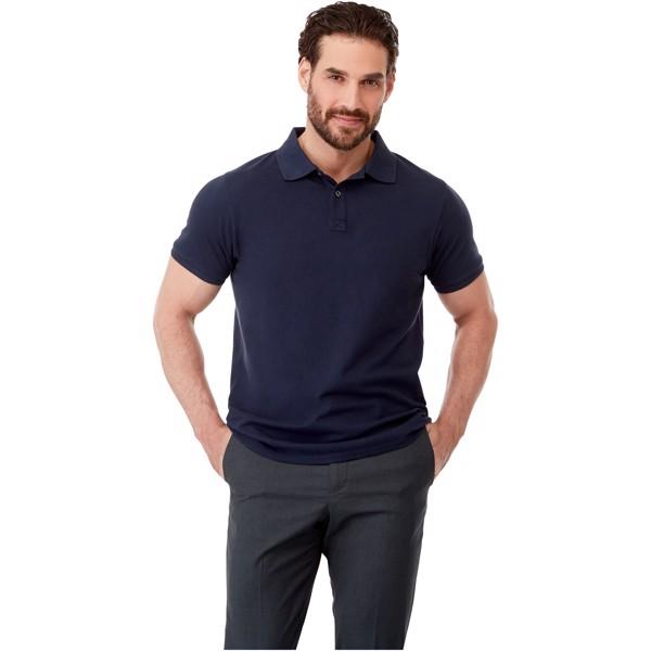 Beryl short sleeve men's GOTS organic GRS recycled polo - Solid Black / L