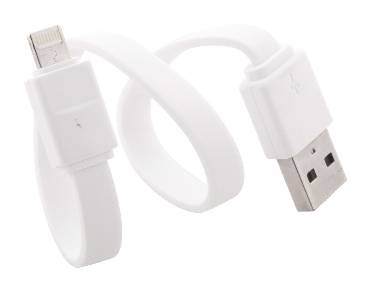Usb Charger Cable Stash - White / Silver