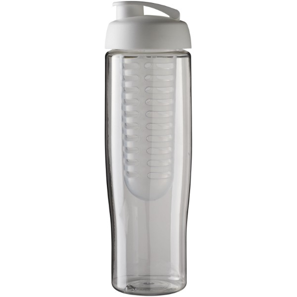 H2O Tempo® 700 ml flip lid sport bottle & infuser - Transparent / White