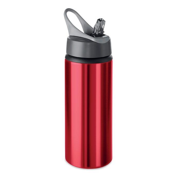 Aluminium bottle 600 ml Atlanta - Red
