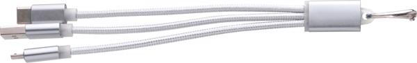 USB-Aufladekabel 'Choose' aus Aluminium - Silver
