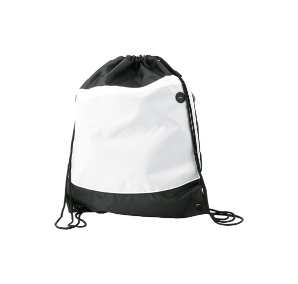 Drawstring Bag Cobra - White / Black