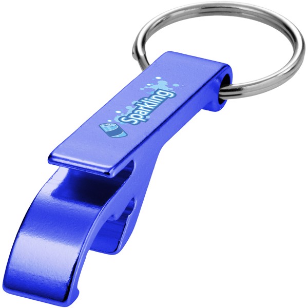 Tao bottle and can opener keychain - Blue