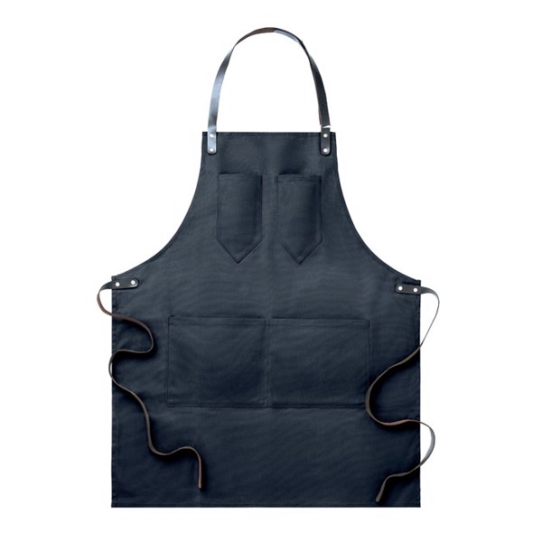 Apron in leather Chef - Black