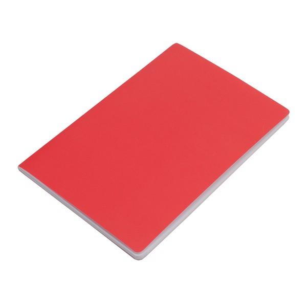 Notatnik 140x210/40k gładki Fundamental - Czerwony